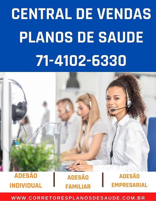 CENTRAL DE VENDAS PLANOS DE SAUDE - TELEFONE