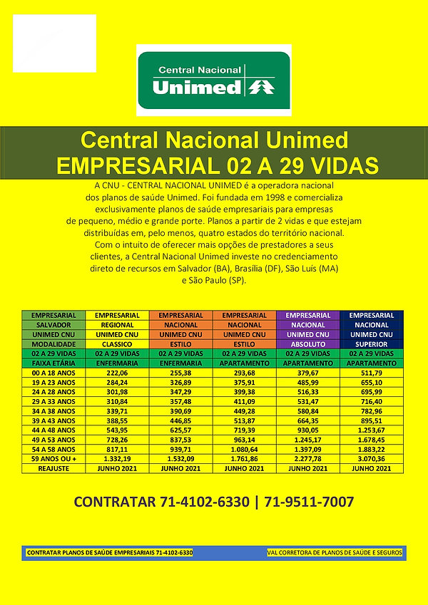 02 A 29 VIDAS - PME UNIMED CENTRAL NACIONAL