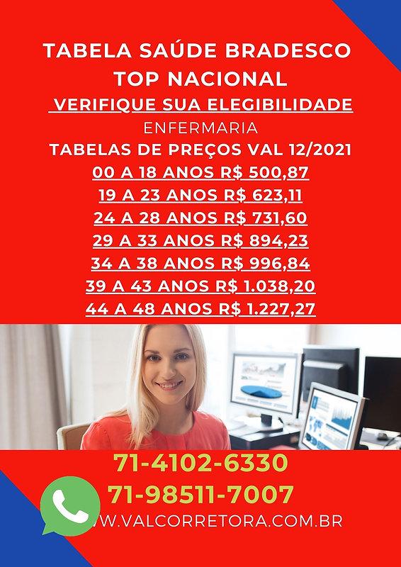 SAUDE BRADESCO TOP ENFERMARIA