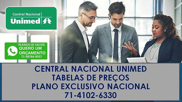 central nacional unimed plano exclusivo.