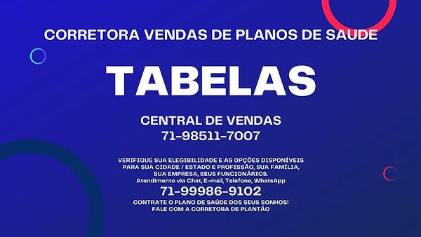 TABELAS PLANOS DE SAUDE