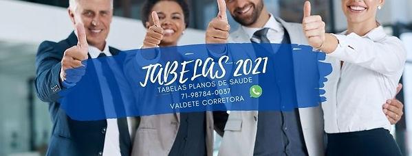 TABELAS 2021 PLANOS DE SAUDE