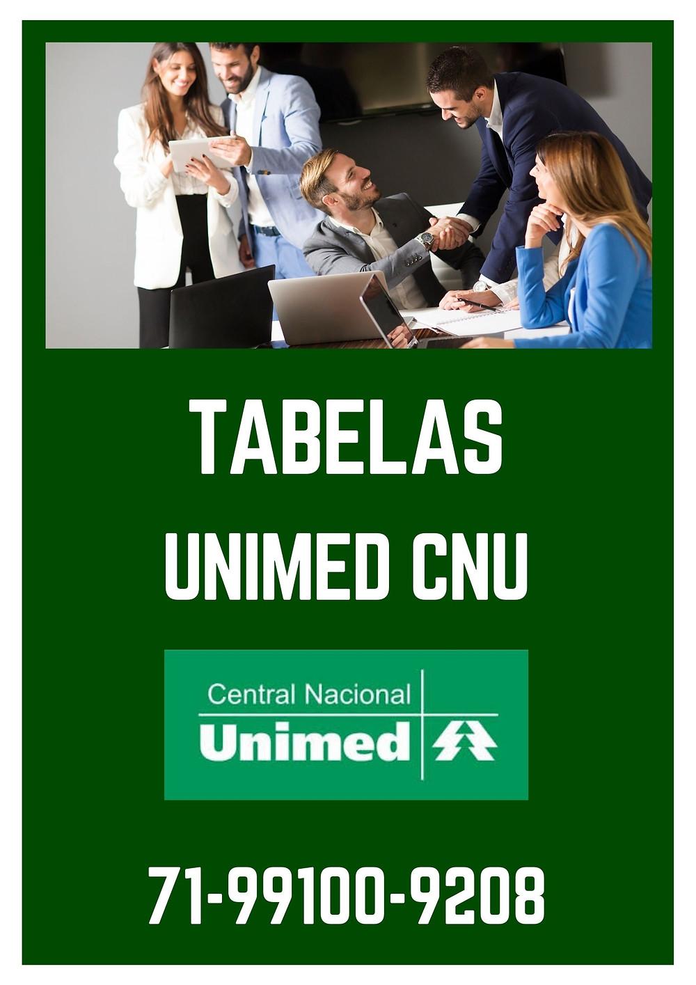 TABELAS ATUALIZADAS (UNIMED 0865)
