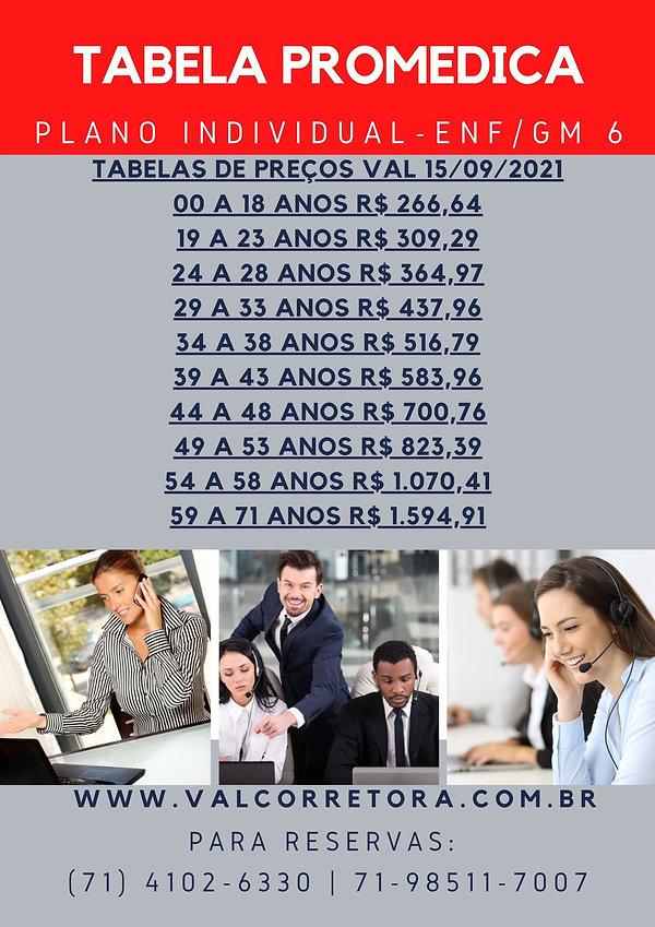 PROMEDICA TABELAS DE VALORES