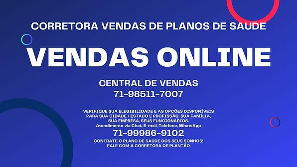 VENDAS ONLINE PLANOS DE SAUDE