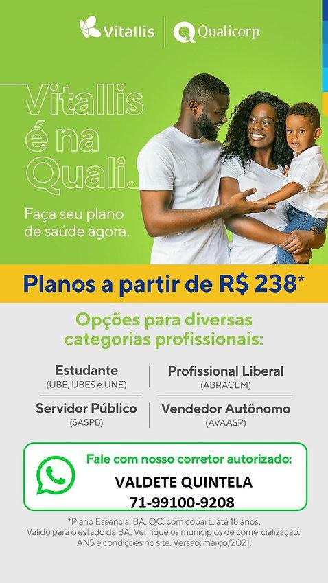 TABELAS QUALICORP-PLANOS DE SAUDE VITALL