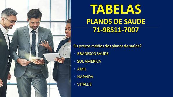 TABELAS PLANOS E SAUDE SALVADOR