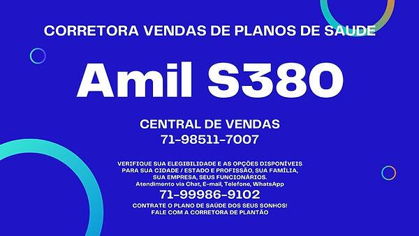 plano de saude empresarial amil S380
