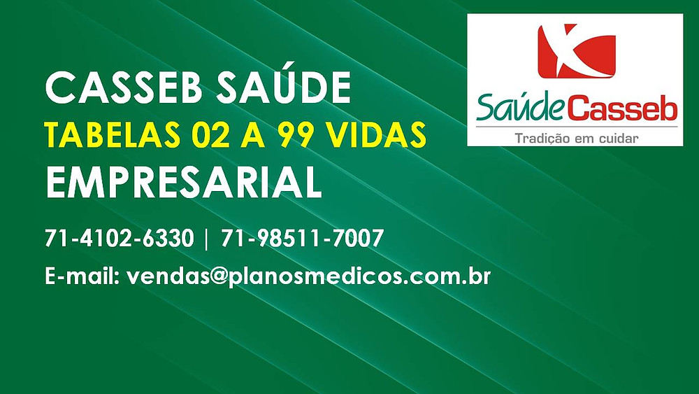 COPARTICIPATIVO | Tabela Plano de Saude Empresarial | Casseb Saude