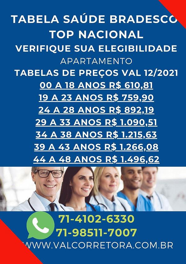 BRADESCO SAUDE TABELAS POR PROFISSÃO
