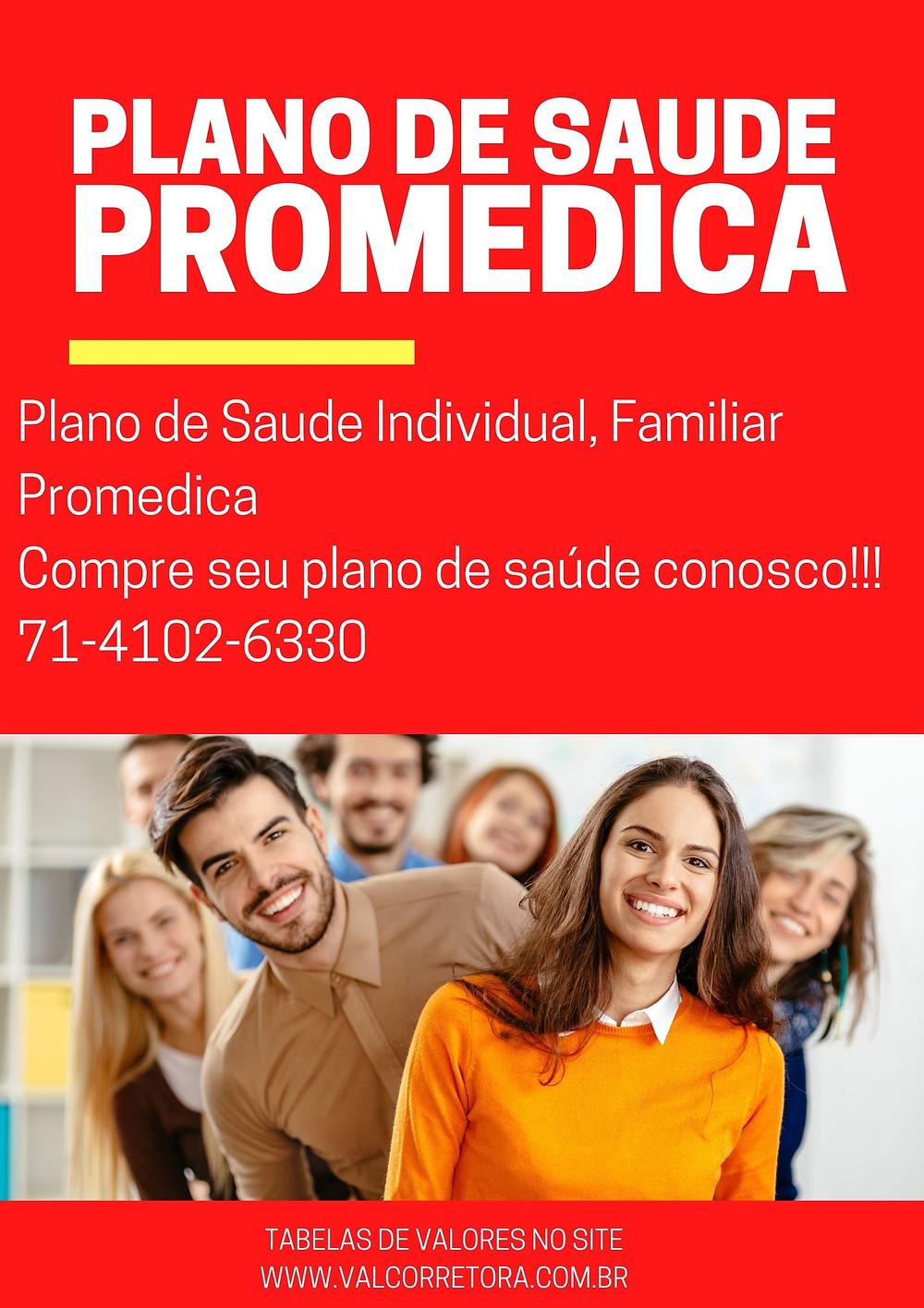 Tabela de Preços Plano de Saude Promedica Individual