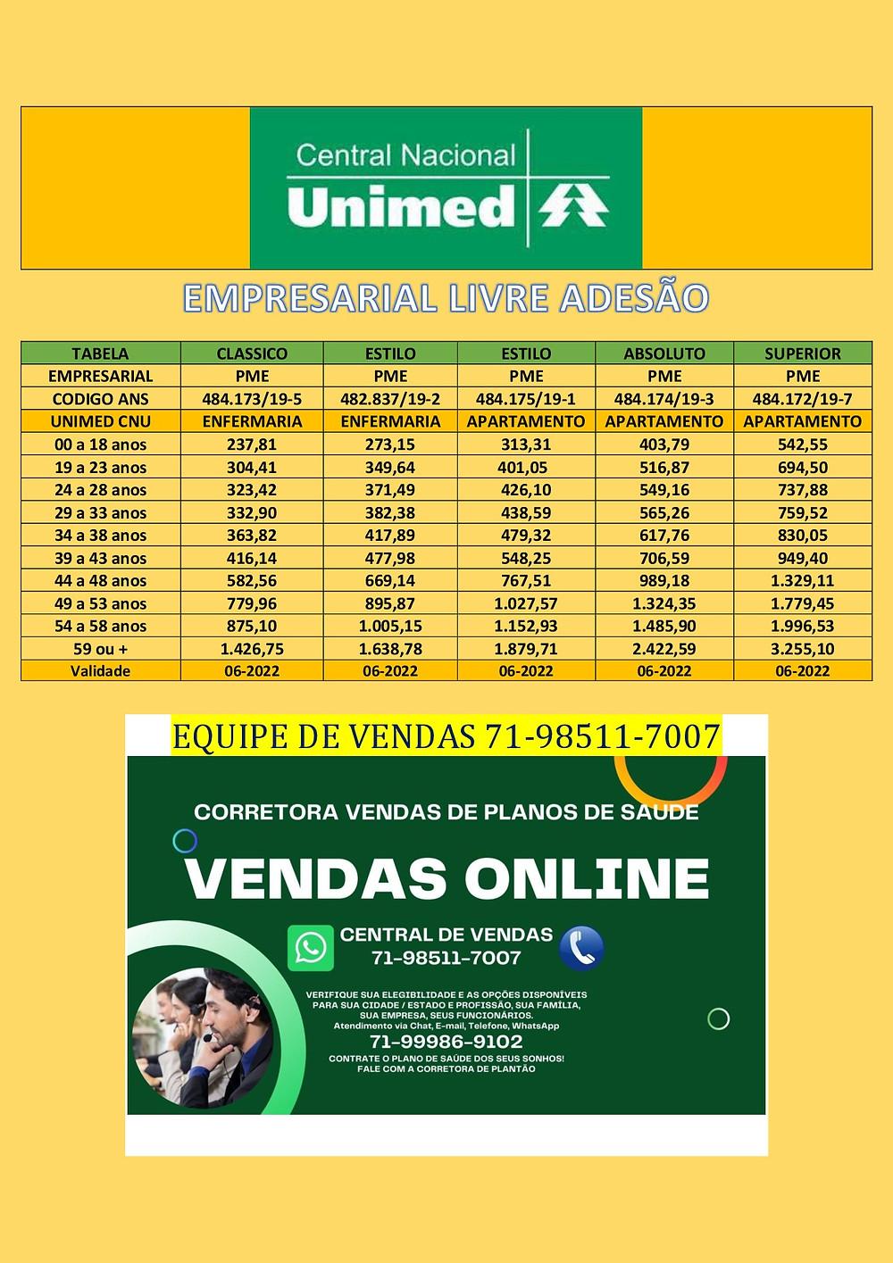 Contrate | Plano Central Nacional Unimed | 0865