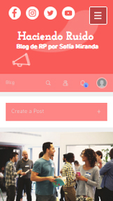 Blogs y Foros website templates – Blog de relaciones públicas