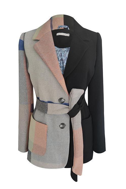 Blue Grey Wool Blazer Jacket