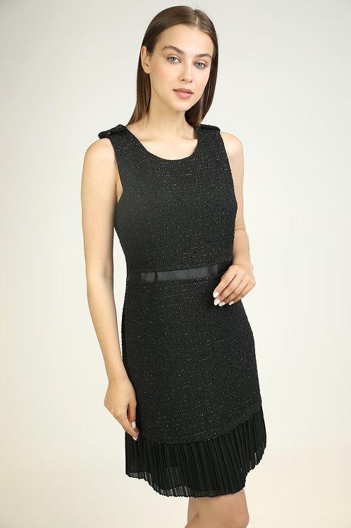 tül detaylı tüvit elbise
