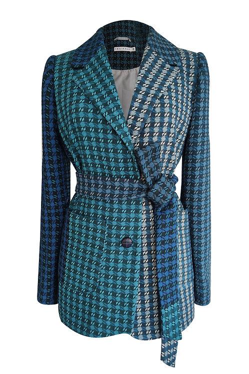 Wool Blend Tweed Blazer Jacket