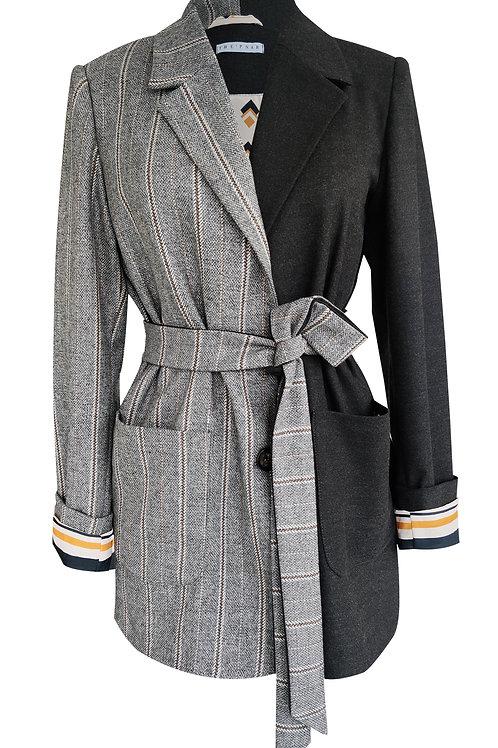 Oversize Patchwork Blazer Jacket