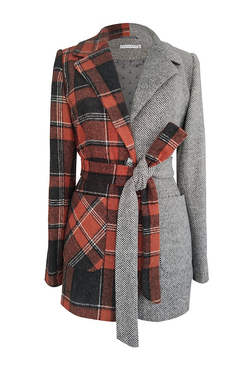 Winter Patchwork Wool Jacket