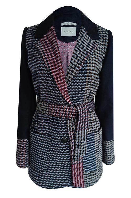 Big Plaid İtaly Tweed Blazer