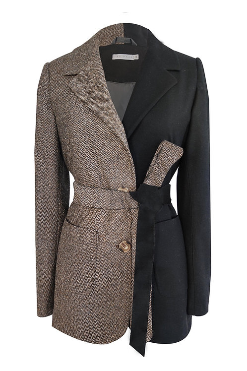 Herringbone  Wool Blazer Jacket