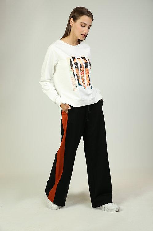 Şeritli Eşofman Pantolon