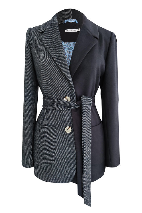 Mini Stripe Dark Blue Blazer Jacket