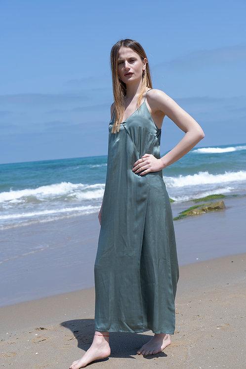Favorite Green Maxi Satin Dress