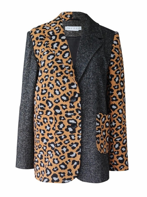 Patchwork Oversize blazer ceket