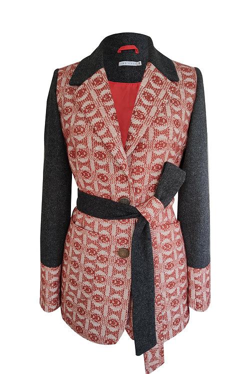 Patchwork Design Blazer Jacket