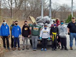 Troop 25 Cleanup Service Project_April 2