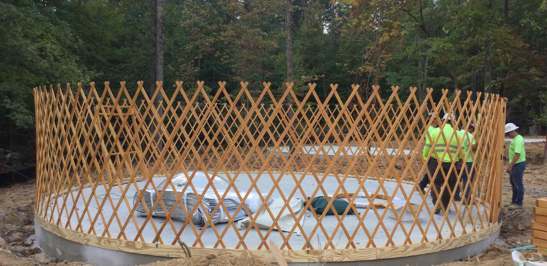 Yurt Construction - View 1