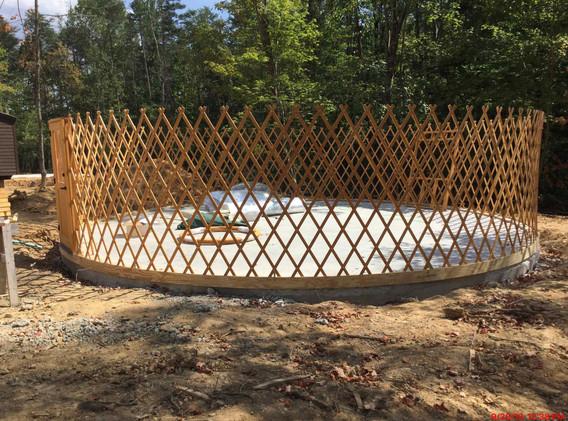 Yurt Construction - View 2
