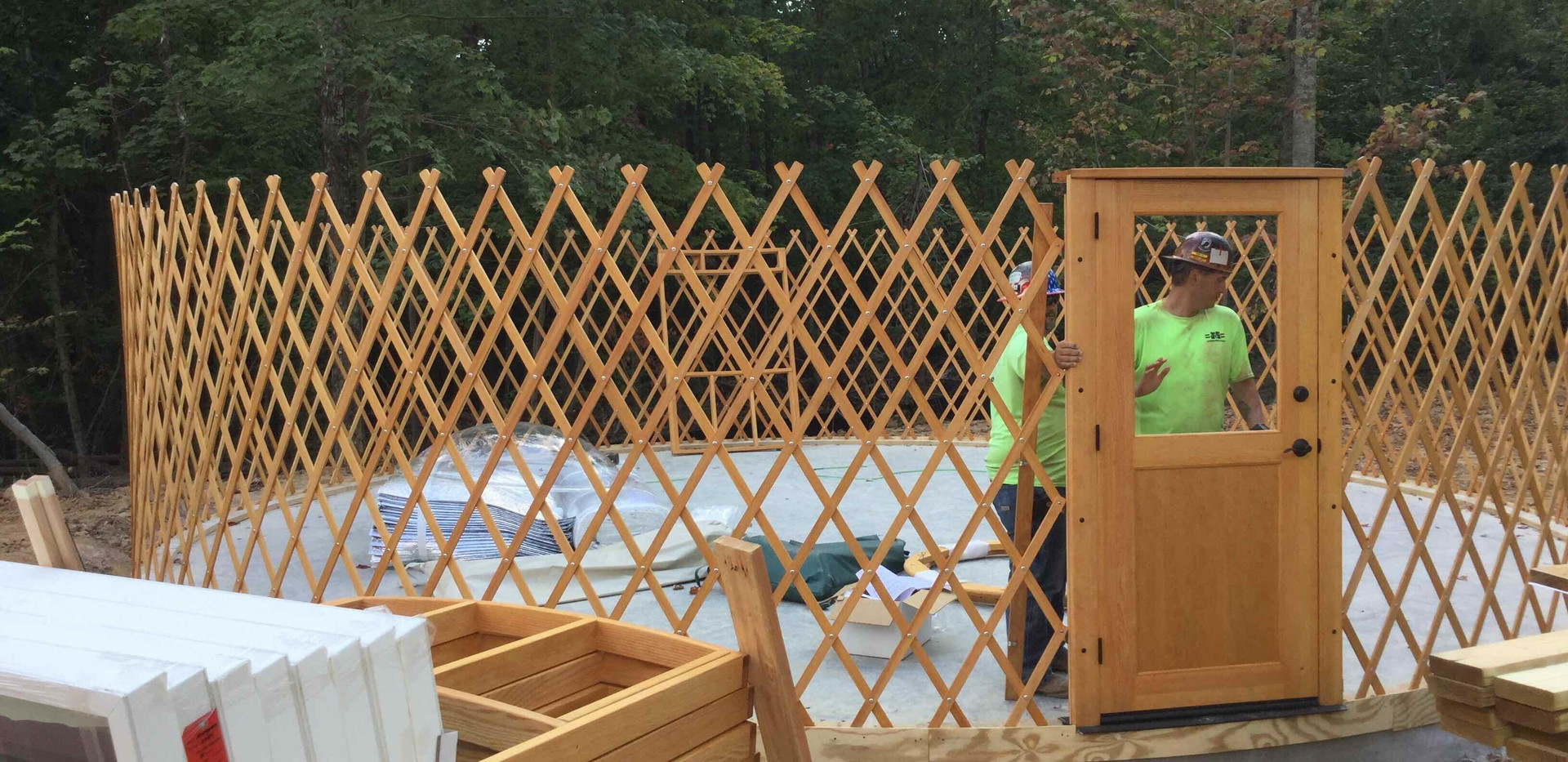 Yurt Construction - View 3