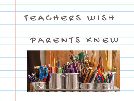 Class is in session: 3 things this teacher wished parents knew