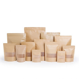 kraft paper zipper pouch with rectangale