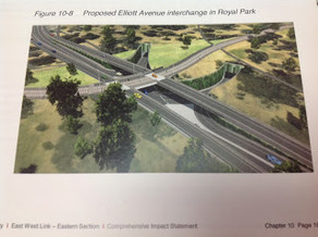 East West Link will adversely impact ground water, heritage sites and parkland