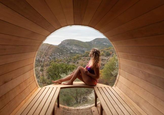 Le sauna avec vue panoramique