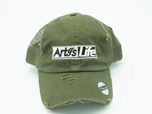 Army Green Mesh Vintage Dad Cap