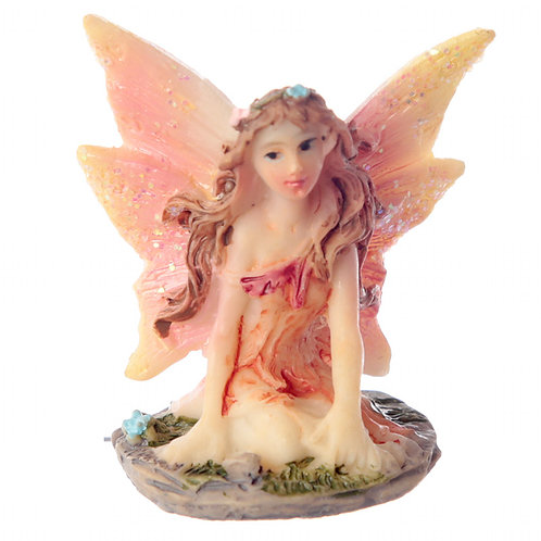 Two Mini Flower Fairy Figurines in Gift Bags