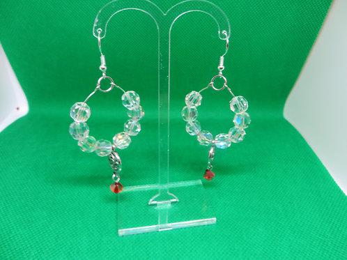 Loopy Loop Crystal Earrings