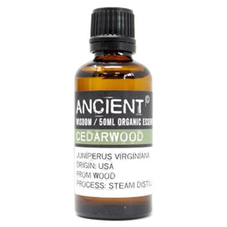 Cedarwood Organic Essential Oil 50ml Bottle