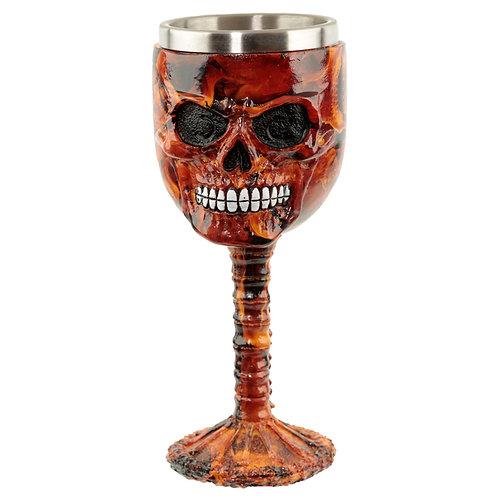 Collectable Decorative Dark Flames Skull Goblet