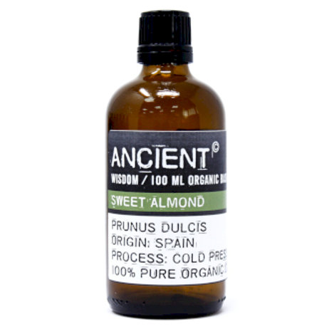 Sweet Almond Organic Base Oil - 100ml Bottle Front View