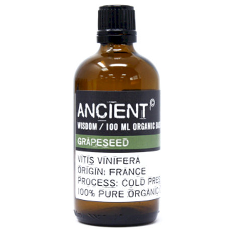 Grapeseed Organic Base Oil - 100ml  Bottle Front View