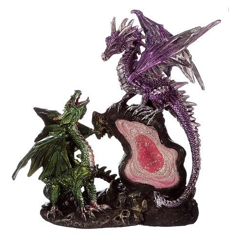 Dark Legends Treasure Geode Dragon rear Left View 2