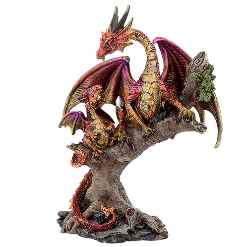 Forest Fire Mother Dark Legends Dragon Figurine Front View