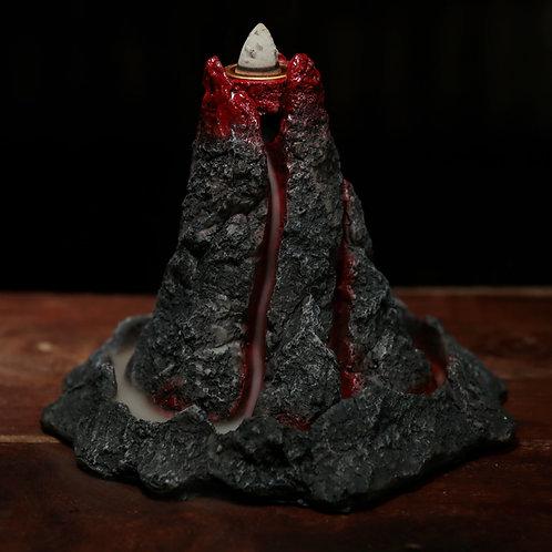Volcano Backflow Incense Burner Showing Backflow Effect