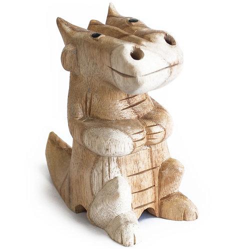 Wooden Carved Incense Burners - Med Dragon