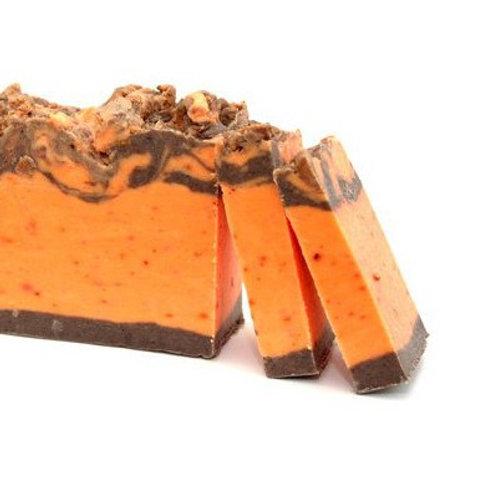 Cinnamon and Orange Olive Oil Soap Loaf Side View