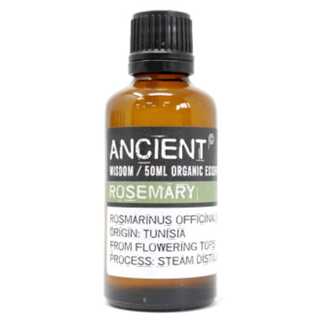 Rosemary Organic Essential Oil 50ml View of Bottle and Label